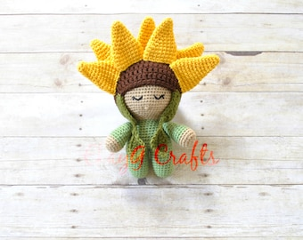 August Sunflower Big Head Baby Doll