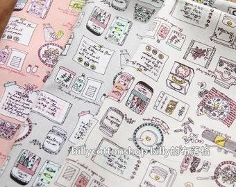 w641_45 - breakfast fabrics  - cotton fabrics - Half Yard ( 3 color )