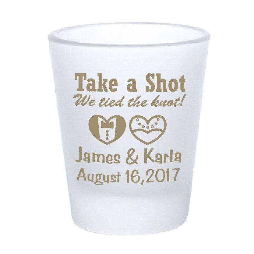 Wedding Favor Shot Glasses 15oz Frosted Shot Glasses Take A