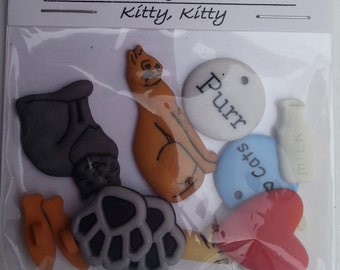 Button Pack Kitty Kitty