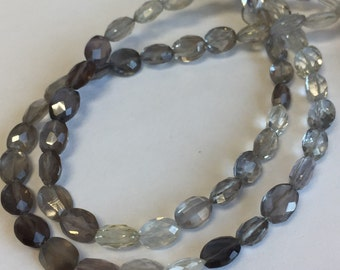 Salmonite Faceted Ovals-Graduated