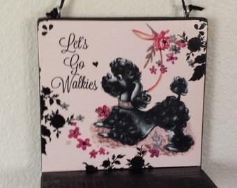 Let's Go Walkies Poodle Decorative Dog Leash Holder