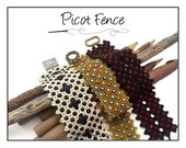 Beading Pattern Right Angle Weave Netted Cuff Tutorial PICOT FENCE