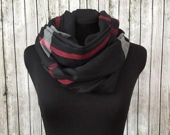 Black plaid blanket scarf shawl wrap