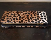 """Leopard Clutch 11""""x 10 """" inches"""