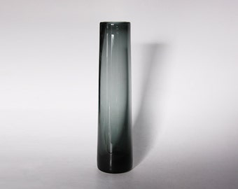 Per Lutken - Modernist Tall Elegant Grey Glass Vase for Holmegaard 50s