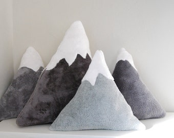 Snowy Mountain Pillows - baby nursery decor or fun accent pillows