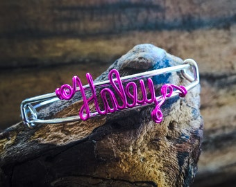 Personalized Wire Name Bracelet