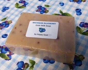 Michigan BLUEBERRY-goat milk soap-bath/shower bar