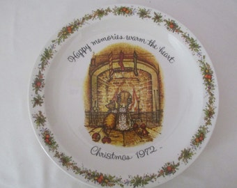 Holly Hobbie Vintage 1972 Christmas Plate