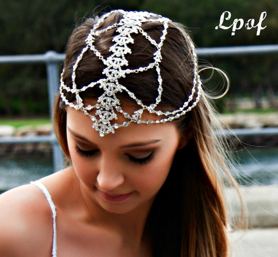 Headpieces For Weddings Australia: Bridal Headpiece Wedding Headpiece Head Jewelry Chain Head