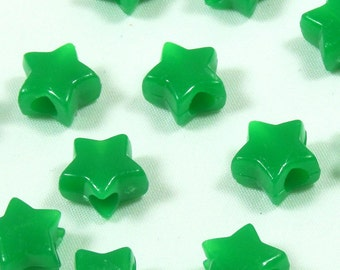 DISCONTINUED Green Star Pony Beads, 7x12mm, 1000 beads