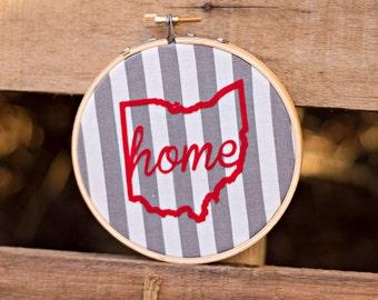 Small Embroidery Hoop Art Ohio Home