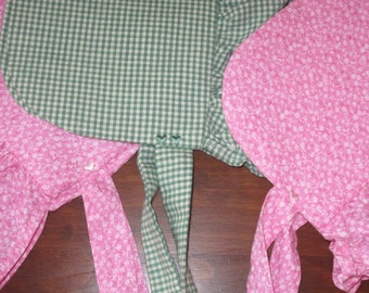 Ready to Ship Toddler Size 1 to 4 Girls Prairie Bonnets/Pioneer or Sun Bonnets - JENNY