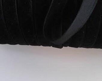 wholesale roll 55 yards black velvet ribbon 3/8