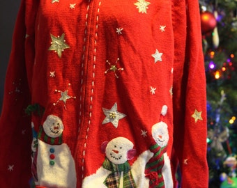Ugly Christmas Sweater with Snowmen