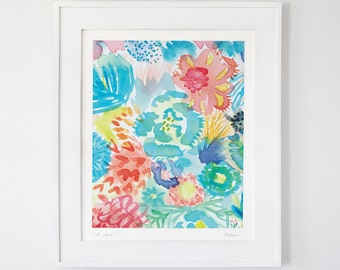 De Colores - (made of colors) wildflower print 11x14