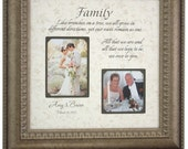 Personalized Photo Frame Parents of the Bride Parents of the Groom wedding gift picture frame, FAMILY 16x16