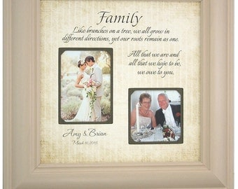 Personalized Frame Parents of the Bride Parents of the Groom wedding gift picture frame, FAMILY 16x16
