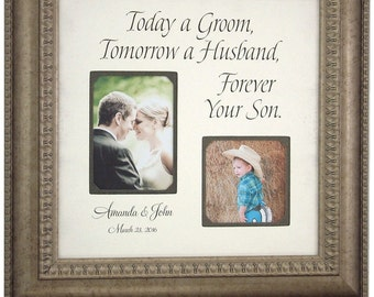 Parents Wedding Gifts, Parents, Bride, Groom, MOM, DAD, Sign, Frame, Father of The Bride, Mother of The Bride, Reception, Shower, 16 X 16