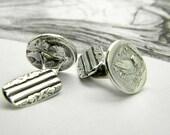 sale Sterling silver cufflinks coin owl Athena greek tetradrachm , man jewelry ,man accesories