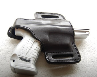 Glock 17,19,20,21,22,23,26,27,29,30,32,34,35,36,37 Leather Belt Handcrafted Holster Tan Black