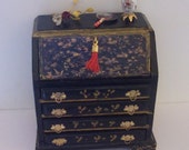 Dollhouse Miniature Chinese Desk, Scale 1/12