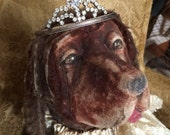 A Small Vintage Rhinestone Tiara That Is Perfect For Your Dog Or A Statue