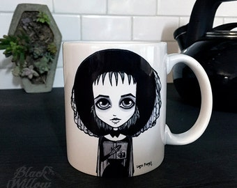 Lydia Deetz Mug by Lupe Flores