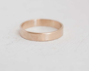 4 x 1 mm Flat Band | Wedding Ring | 14k Recycled Gold