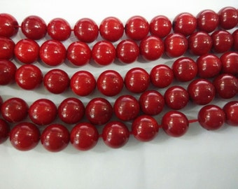 Red Coral Natural Genuine Loose Beads 4mm - 10mm Round 15 inches length, 38 cm - Wholesale Coral