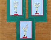 Greyhound galgo any occasion cards with envelopes silly old greyhound gold green set of 3