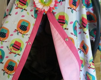 Carseat Canopy carseat cover Owl LAST ONE RTS