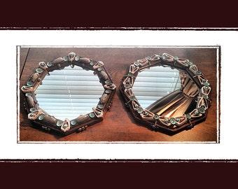Sea Shell Octagon Wall Mirror (11x11 Choice of), Beach/Coastal/Nautical Decor, Wedding/Anniversary/Housewarming Gift, Wall Decor