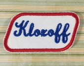 NAME PATCH - Custom Retro Style