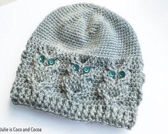 Owl Crochet Hat Pattern