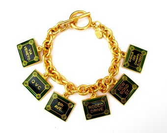 Joan Rivers Shopping Charm Bracelet