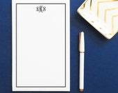 Monogram notepad set, Personalized notepad set, Monogrammed notepad set , Personalized Writing Paper, Mongrammed Notepad, KLA24