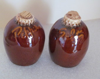 Vintage Hull Pottery Salt and Pepper Range Style Shakers