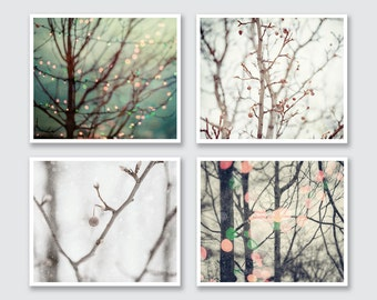 Gifts for Women | Gifts for Her | Gifts for Teacher | Holiday Decor | Christmas Decor | Holiday Lights Prints | Holiday Wall Decor Set of 4