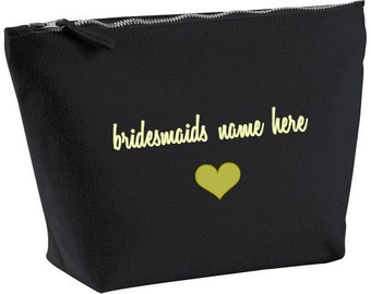 bridesmaids gift, gifts for bridesmaids, bridesmaids bag, makeup bags, personalized bags, personalized gifts, wedding party gifts, gifts