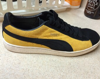 Old School Puma Black and Yellow suede rarities Size 11