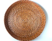Wicker Serving Tray- Kitchen Gadgets Accessories- Sturdy Kitchen Color Schemes- Top Selling Items- Most Sold Wicker Large Round Platter