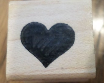 Valentine Heart Love Romance Ann-Ticipations 1993  Wooden Rubber Stamp