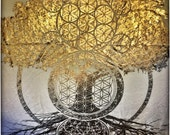 Flower of life gold tank top