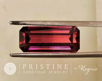 Pink Tourmaline Emerald Cut Over 9 Carats October Birthstone for Pendant or Fine Jewelry.