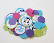 Penguin Confetti, Girl Penguin Birthday Party, Penguin Party Decorations, Penguin Theme,  Winter Wonderland Birthday, Winter ONEderland
