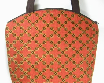 Rust and Brown Upcycled Upholstery, Carrie Purse