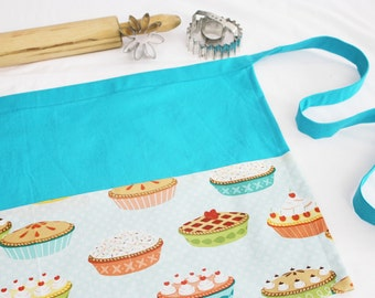 Pies on Blue Adult Apron