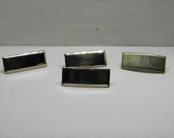 Lot of WW2 to Vietnam War First Lieutenant Rank Silver Tone Bar Pins
